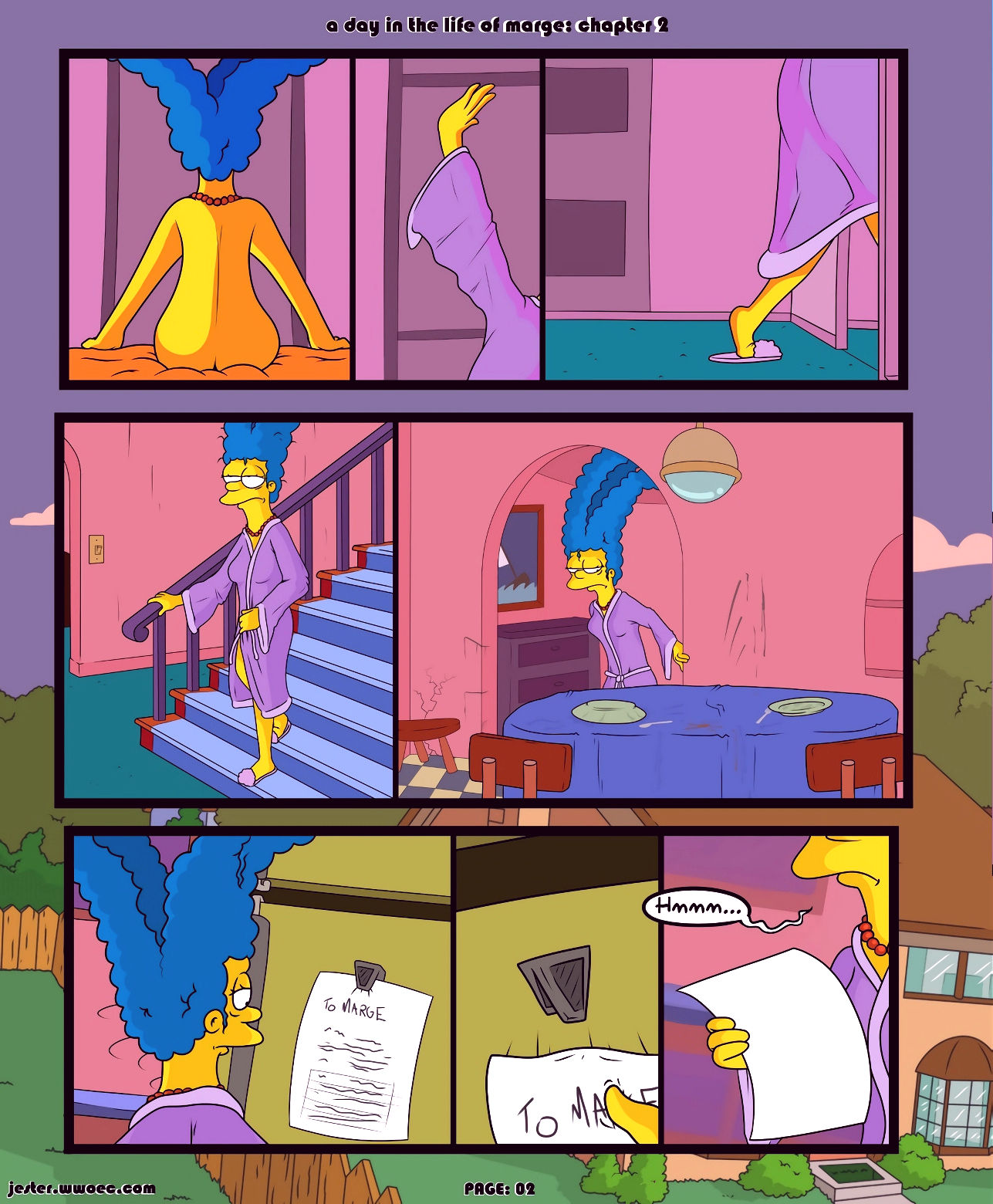 A day in the life of marge 2 porn comic picture 02