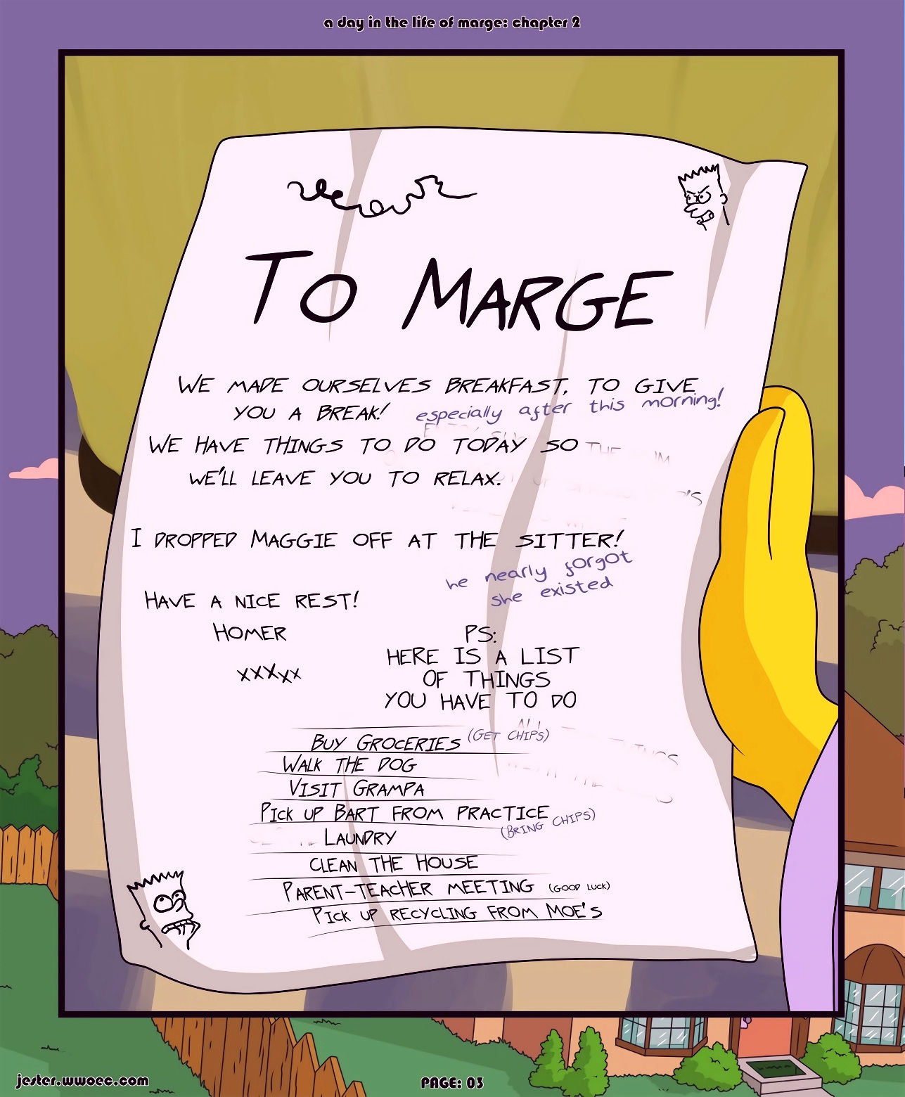 A day in the life of marge 2 porn comic picture 03