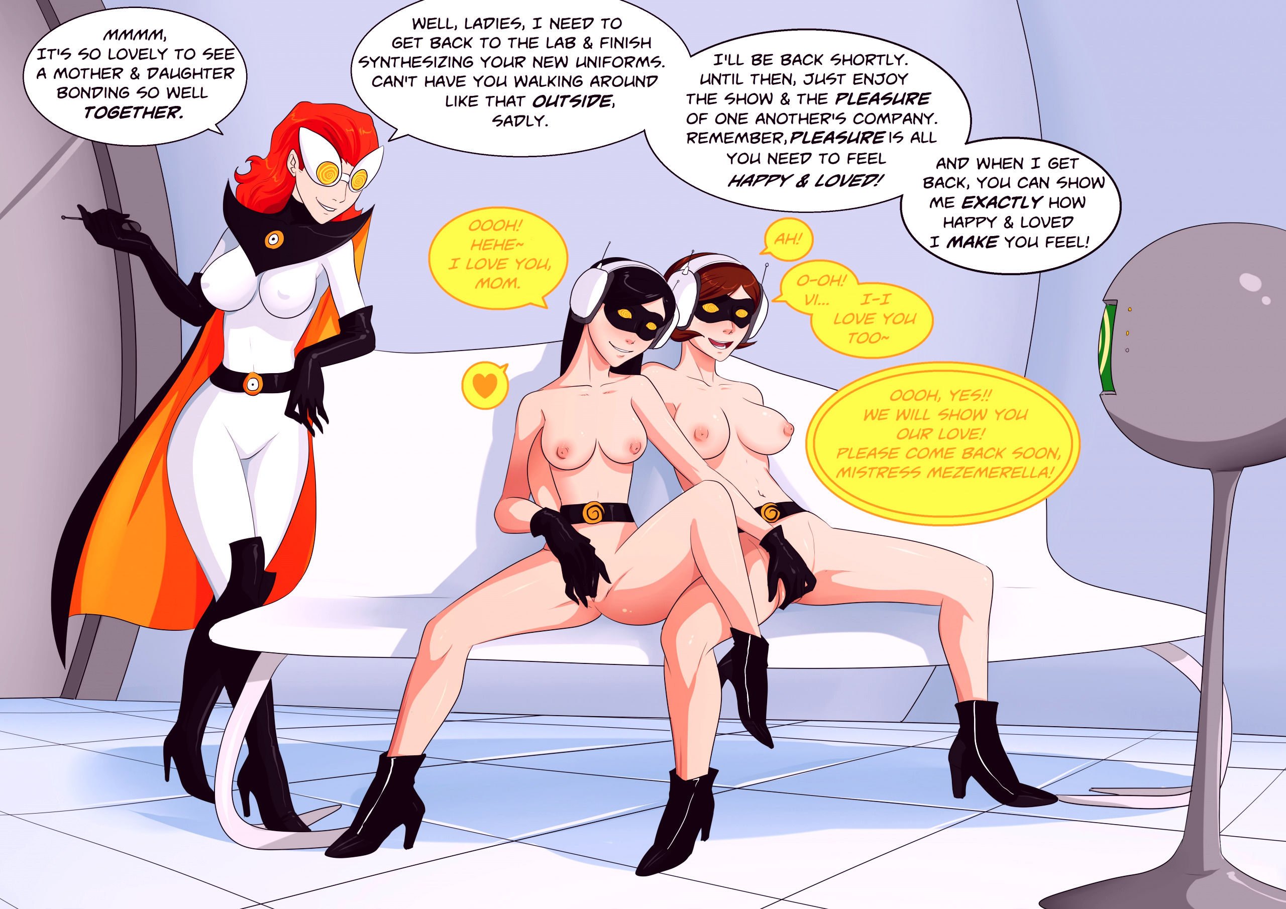 Mother and daughter relations with mezmerella porn comic picture 10