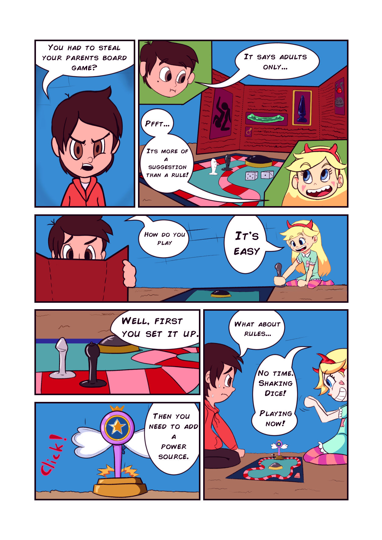 Star vs the board game of lust porn comic picture 4