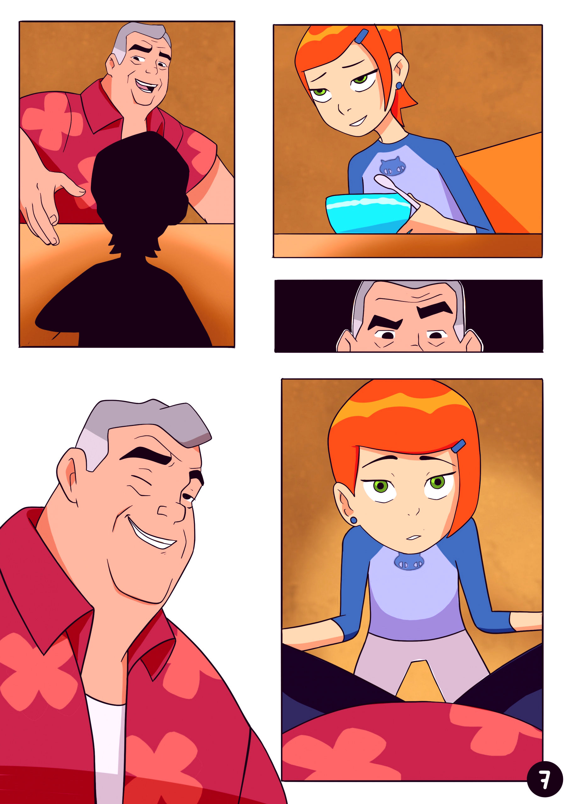 Amazing adventures of gwen and her abusive grandfather porn comic picture 7