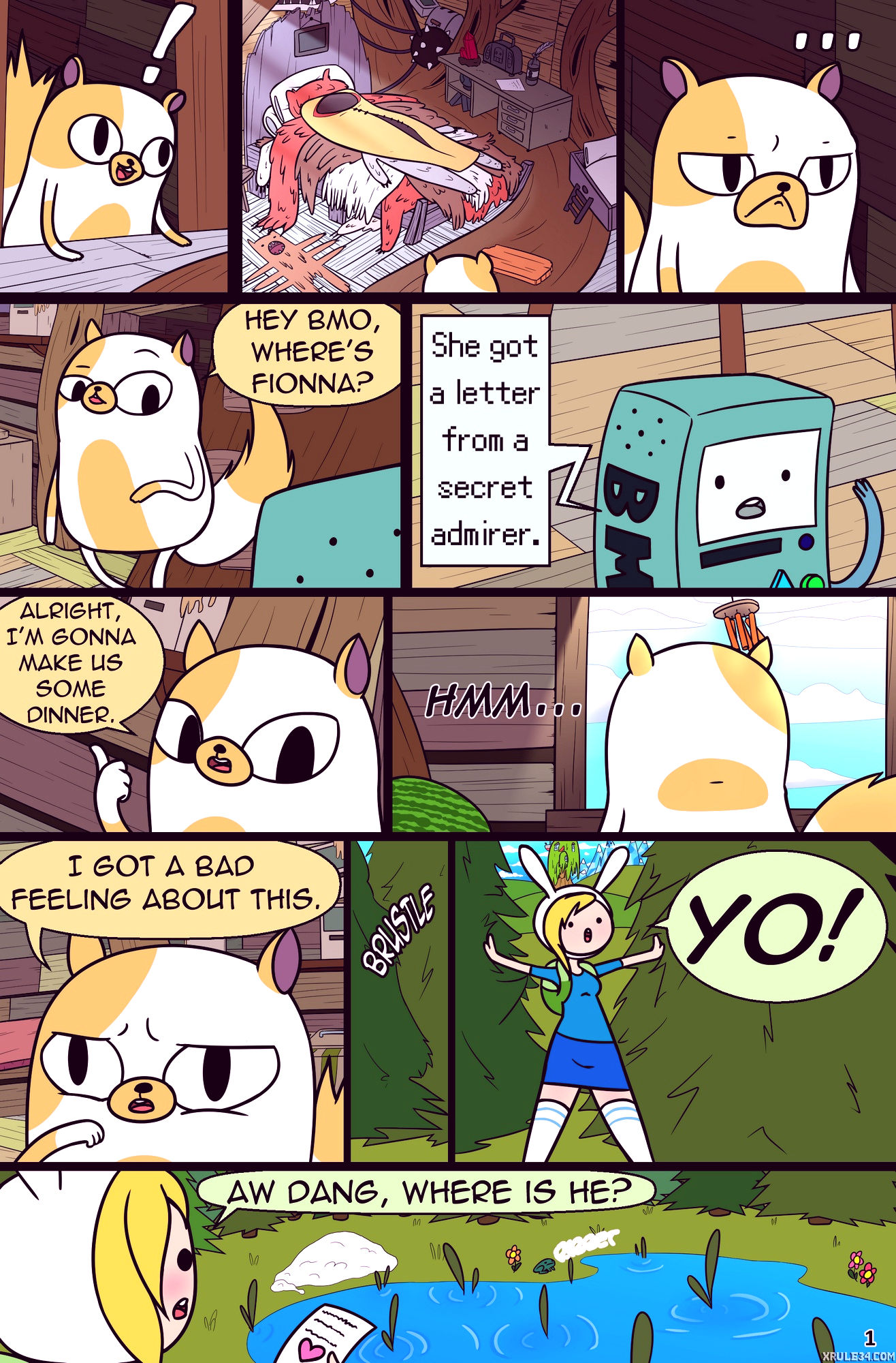 Misadventure time spring special the cat the queen and the forest porn comic picture 2
