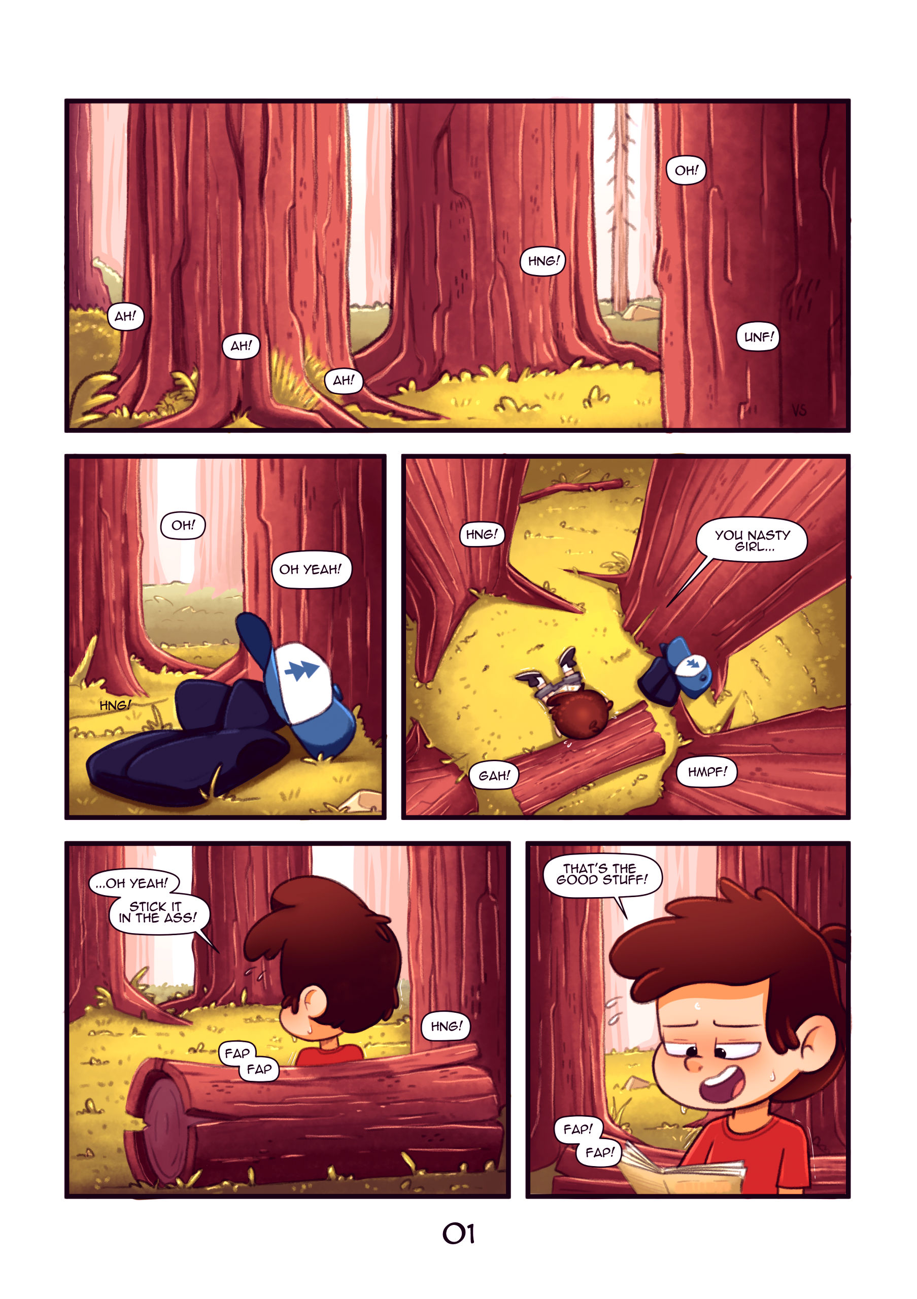 Secret of the woods porn comic picture 2
