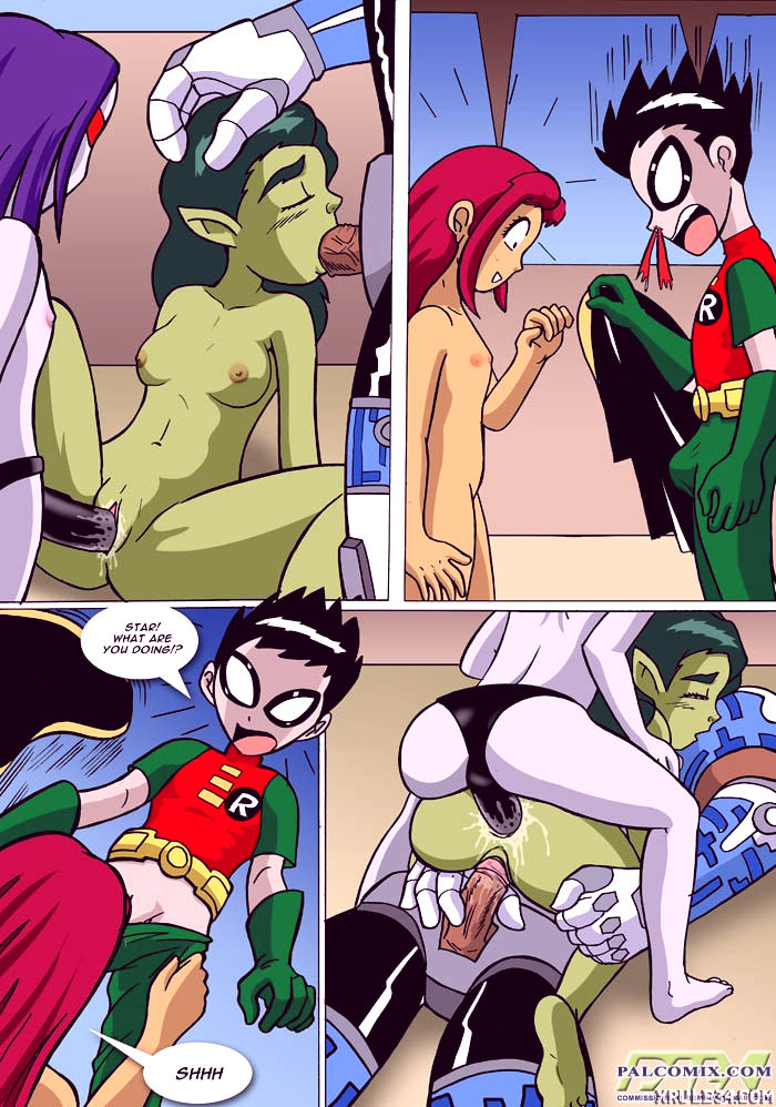 Beastboy mating season porn comic picture 10