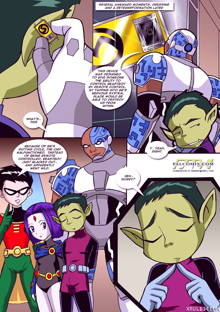 Beastboy mating season porn comic picture 12
