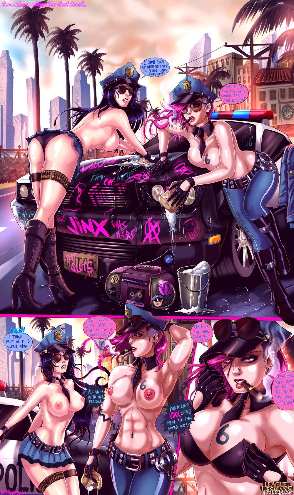 League of lesbians porn comic picture 2