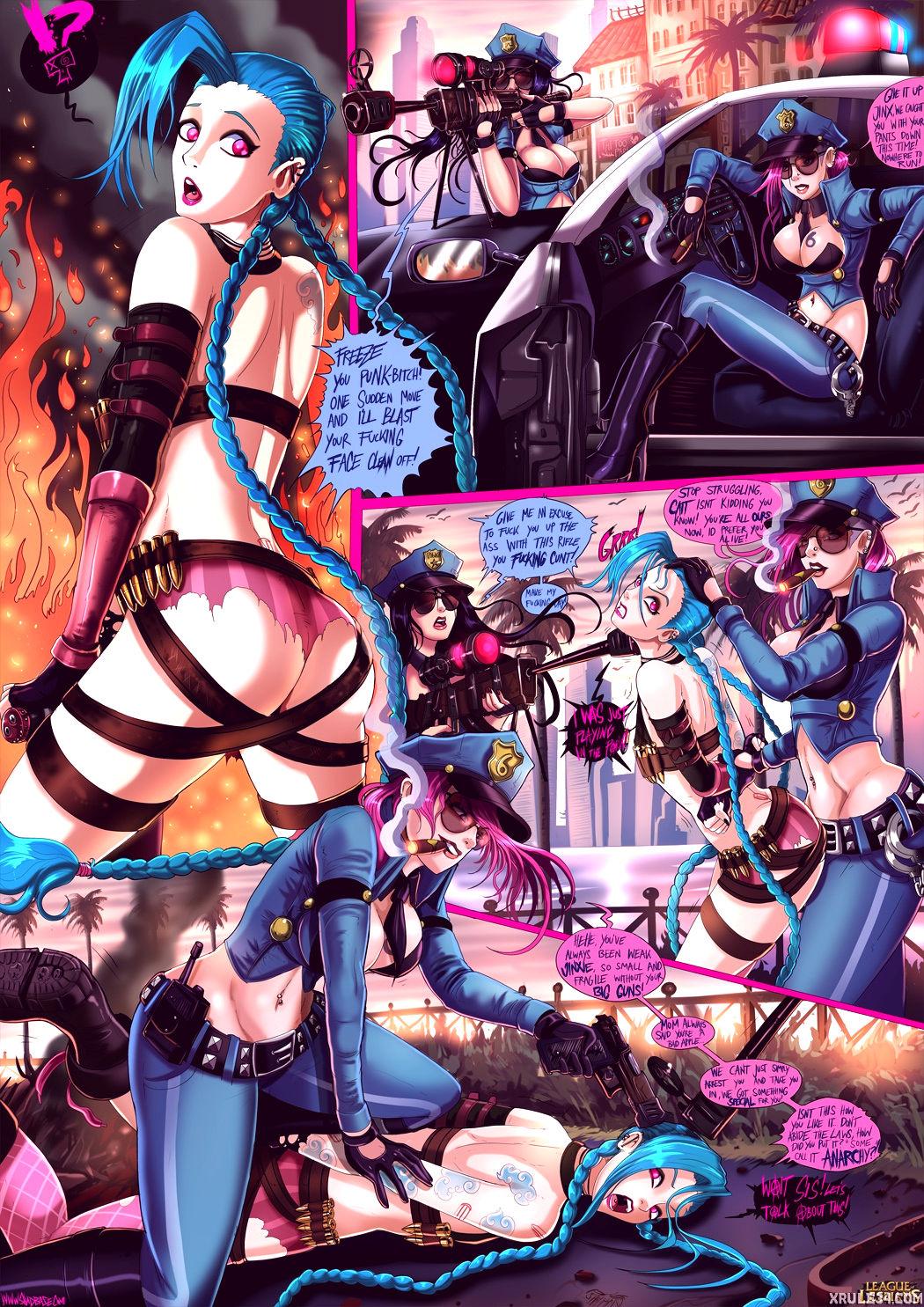 League of lesbians porn comic picture 4