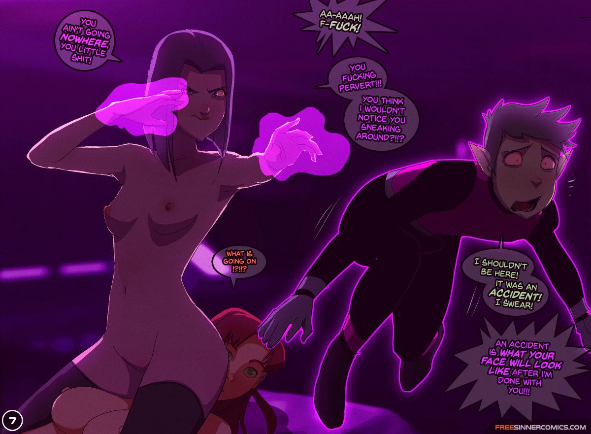 Lewd titans go porn comic picture 7