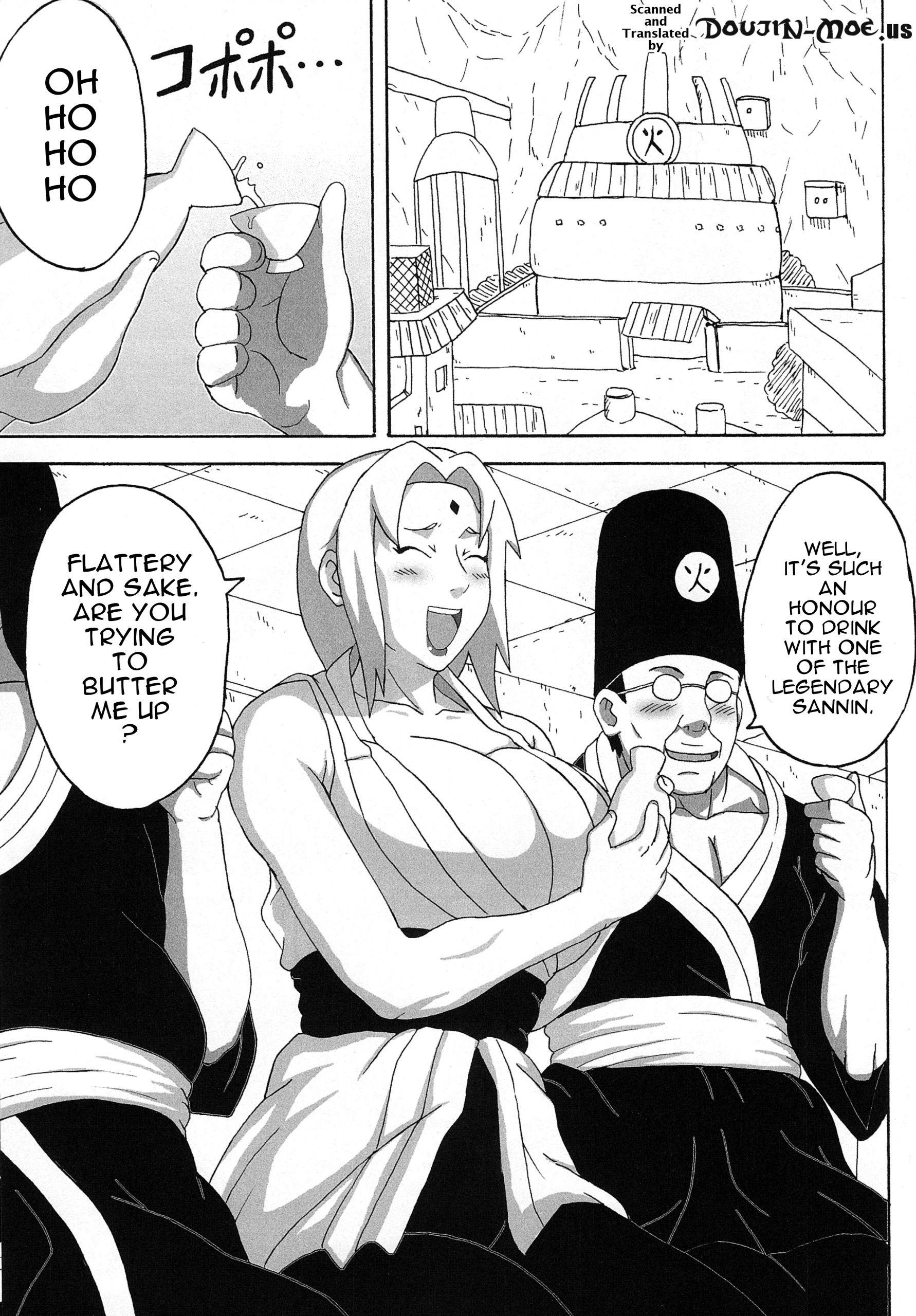 Tsunades lewd reception party hentai manga picture 2