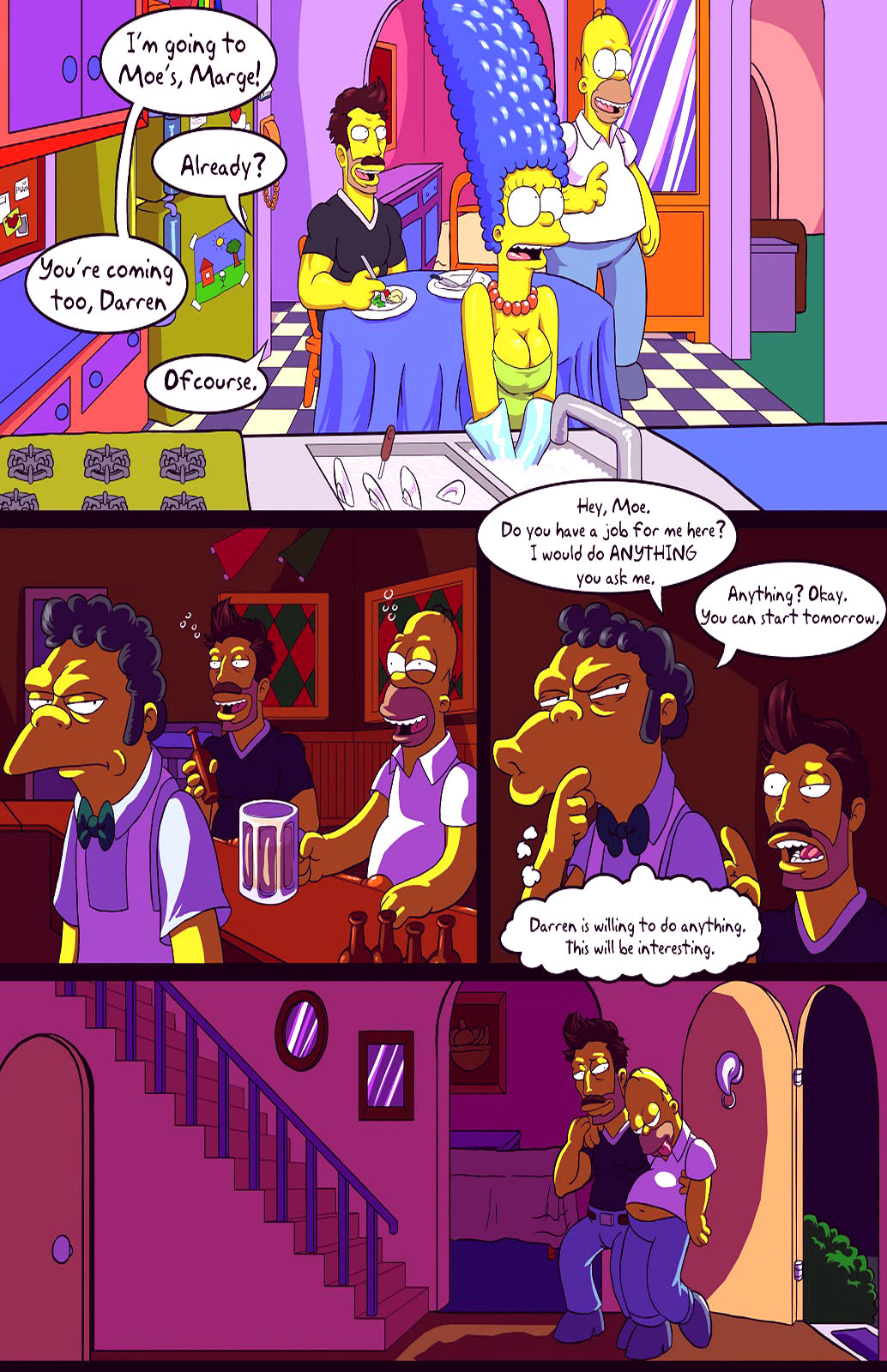 Darrens adventure or welcome to springfield porn comic picture 6