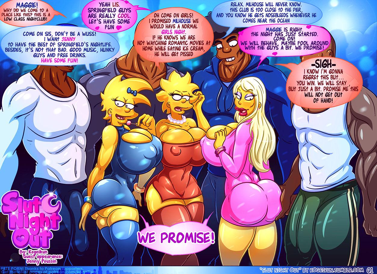 Slut night out porn comic picture 2