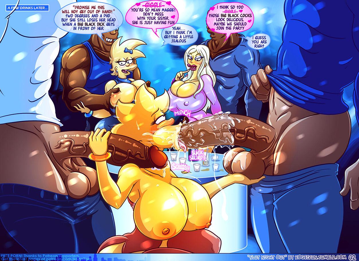 Slut night out porn comic picture 3