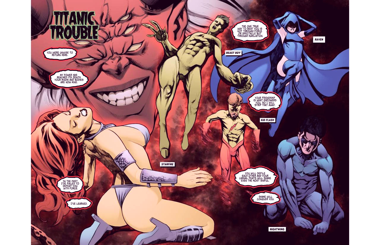 Superheroes after dark extreme porn comic picture 77