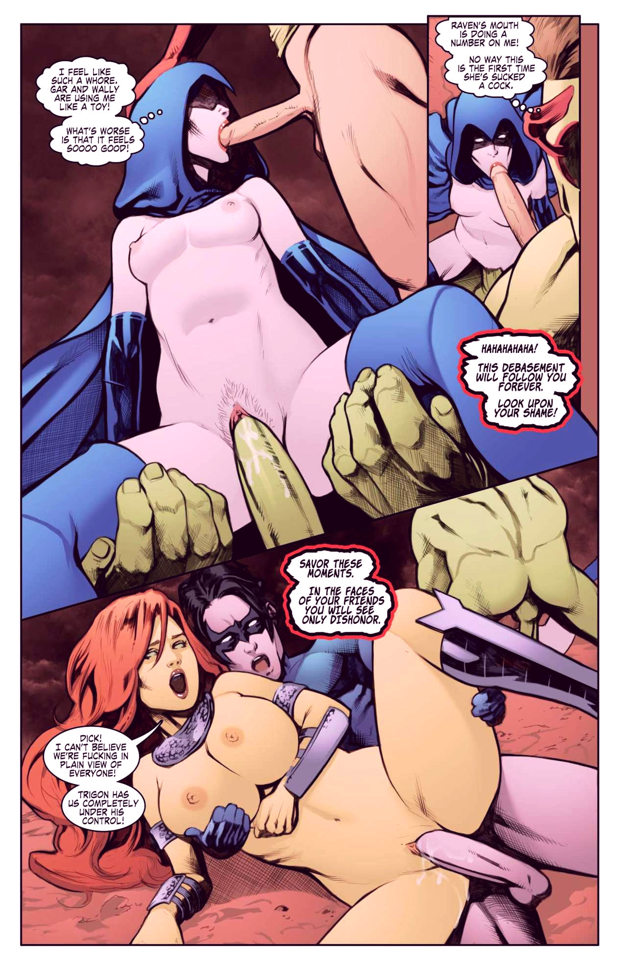 Superheroes after dark extreme porn comic picture 79