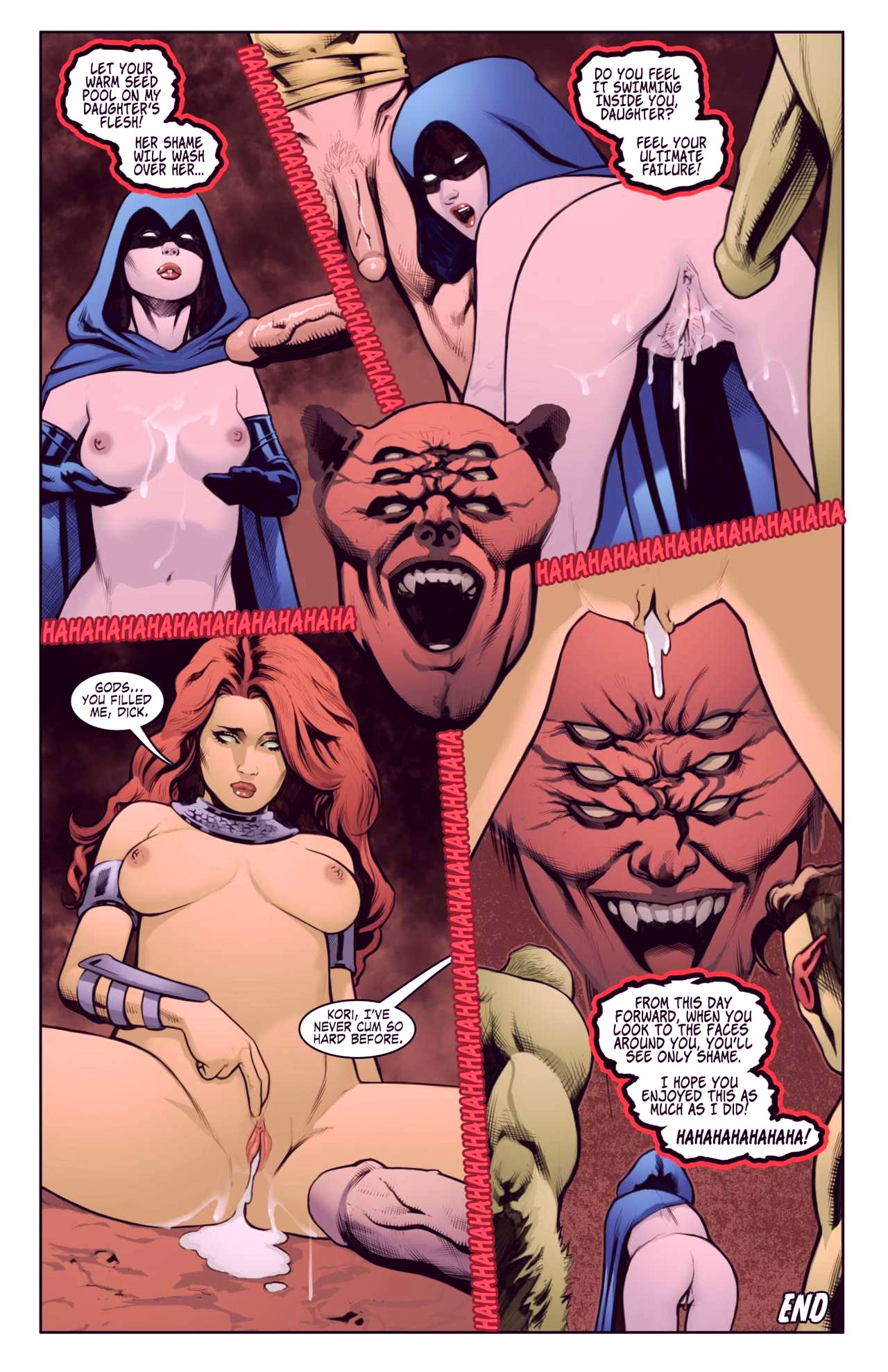 Superheroes after dark extreme porn comic picture 81