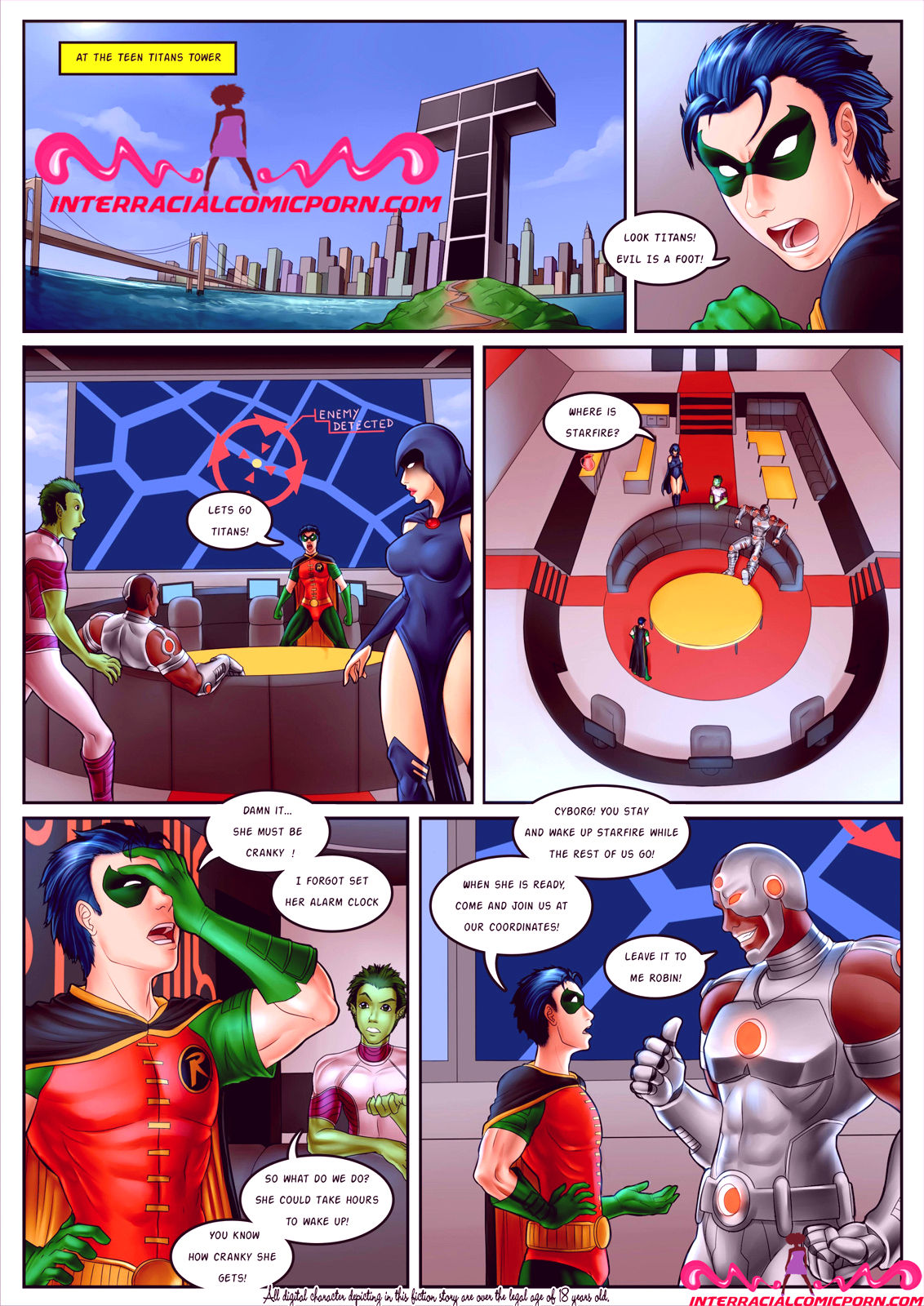 Superheroes porn comic picture 1