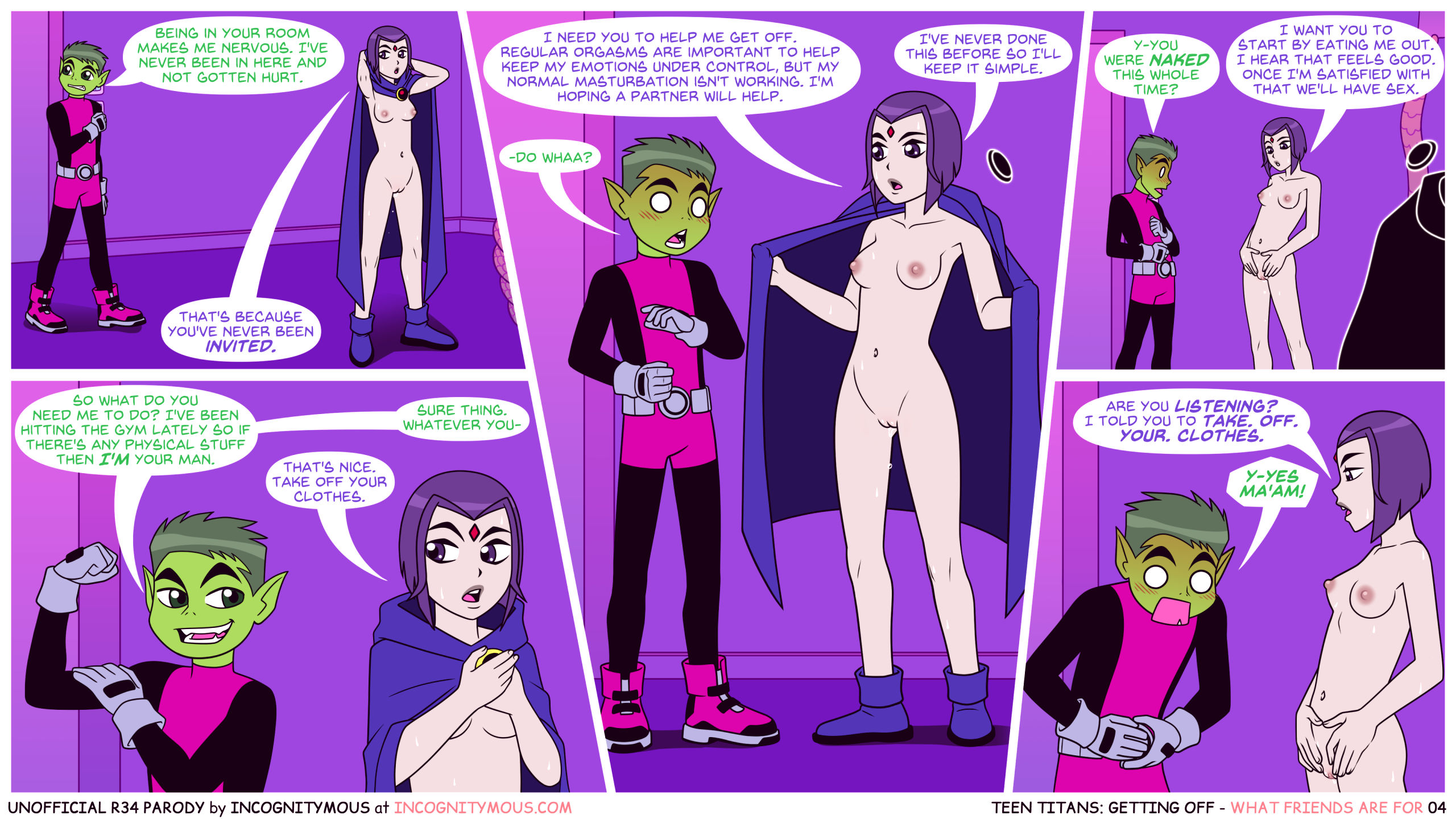 Teen titans getting off porn comic picture 4