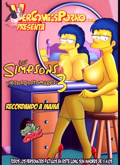 The simpsons old habits 3 porn comic picture 1