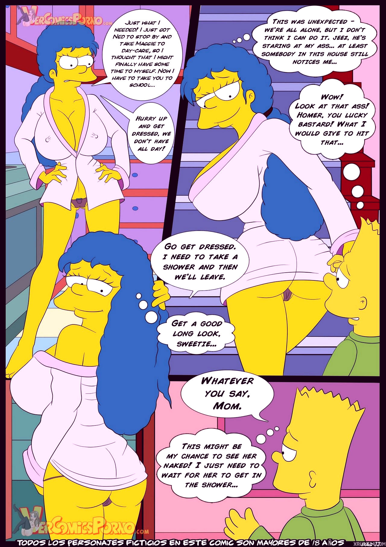 The simpsons old habits 3 porn comic picture 12