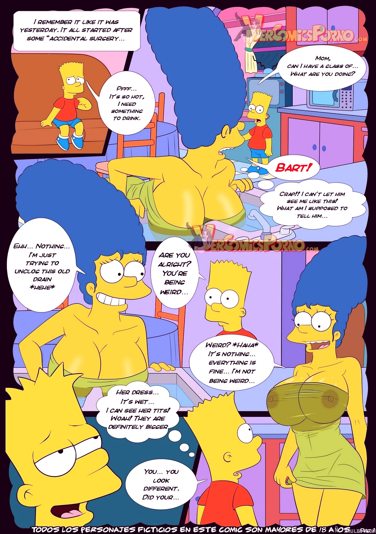 The simpsons old habits 3 porn comic picture 2
