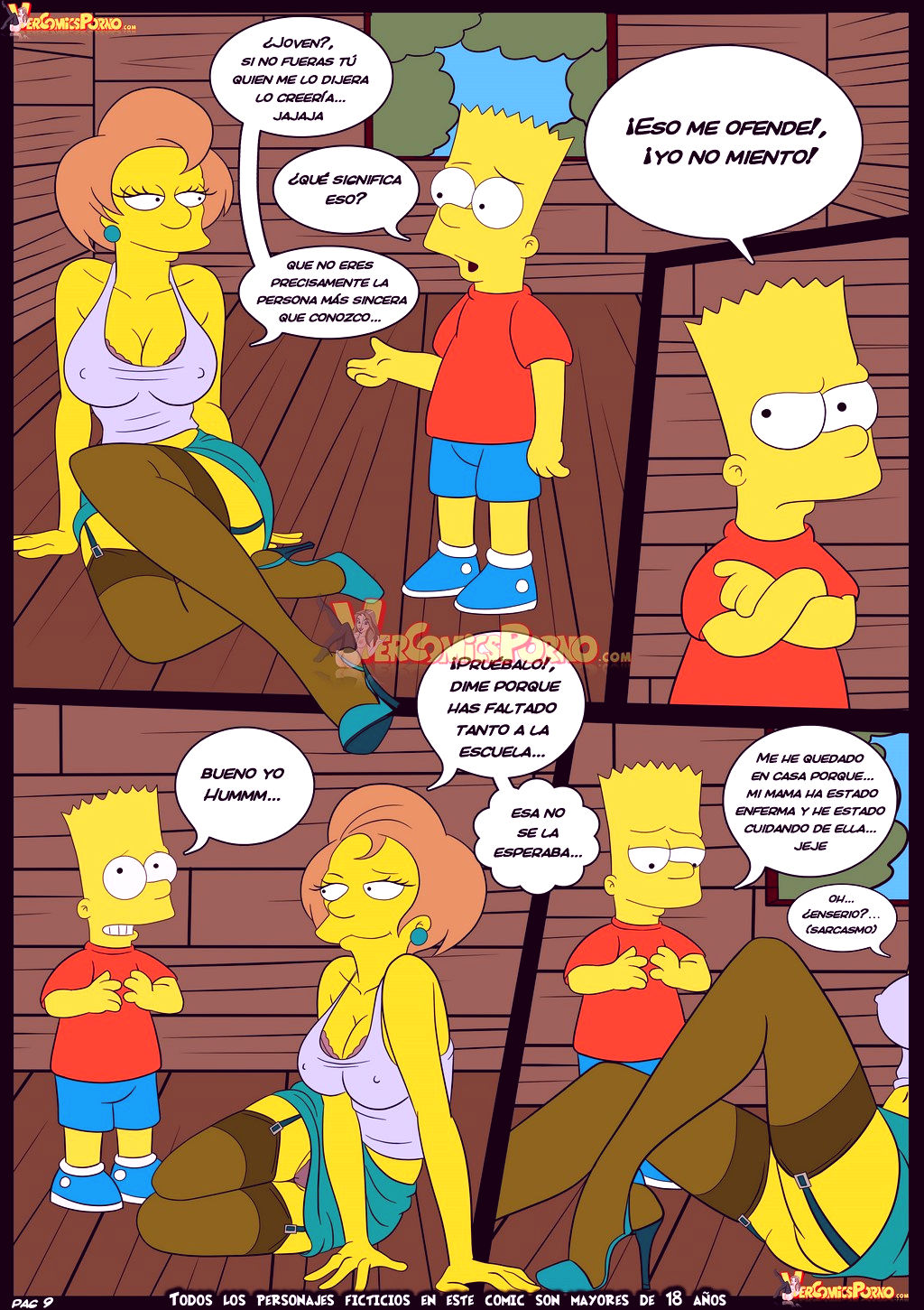 The simpsons old habits 5 porn comic picture 10