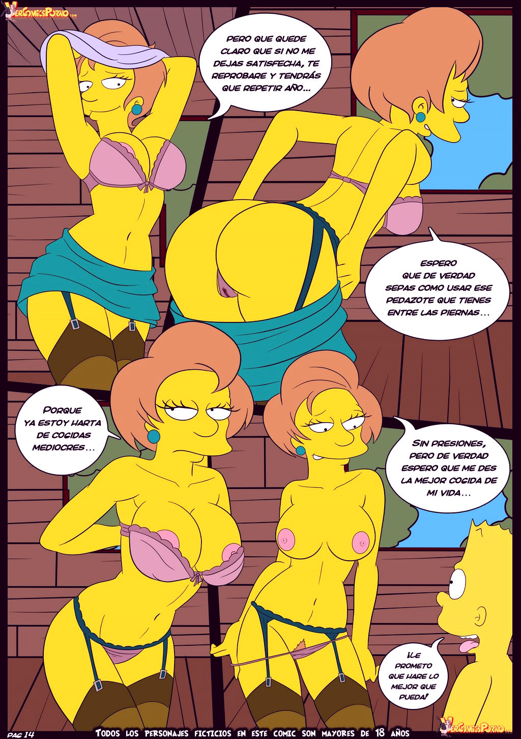 The simpsons old habits 5 porn comic picture 15