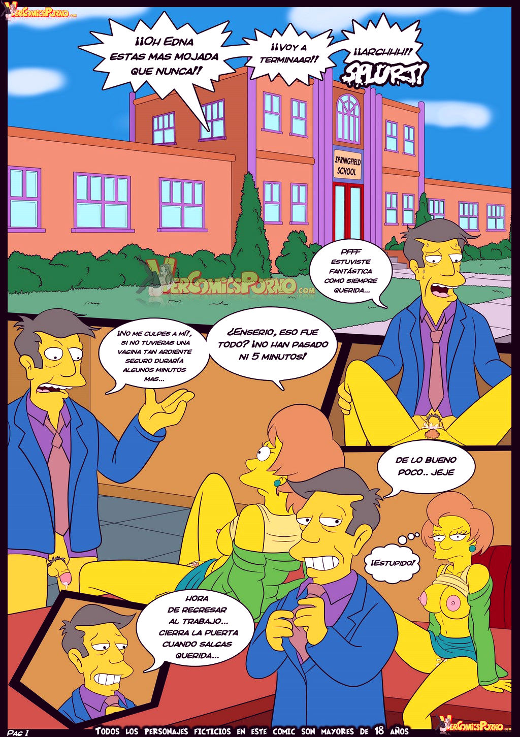 The simpsons old habits 5 porn comic picture 2