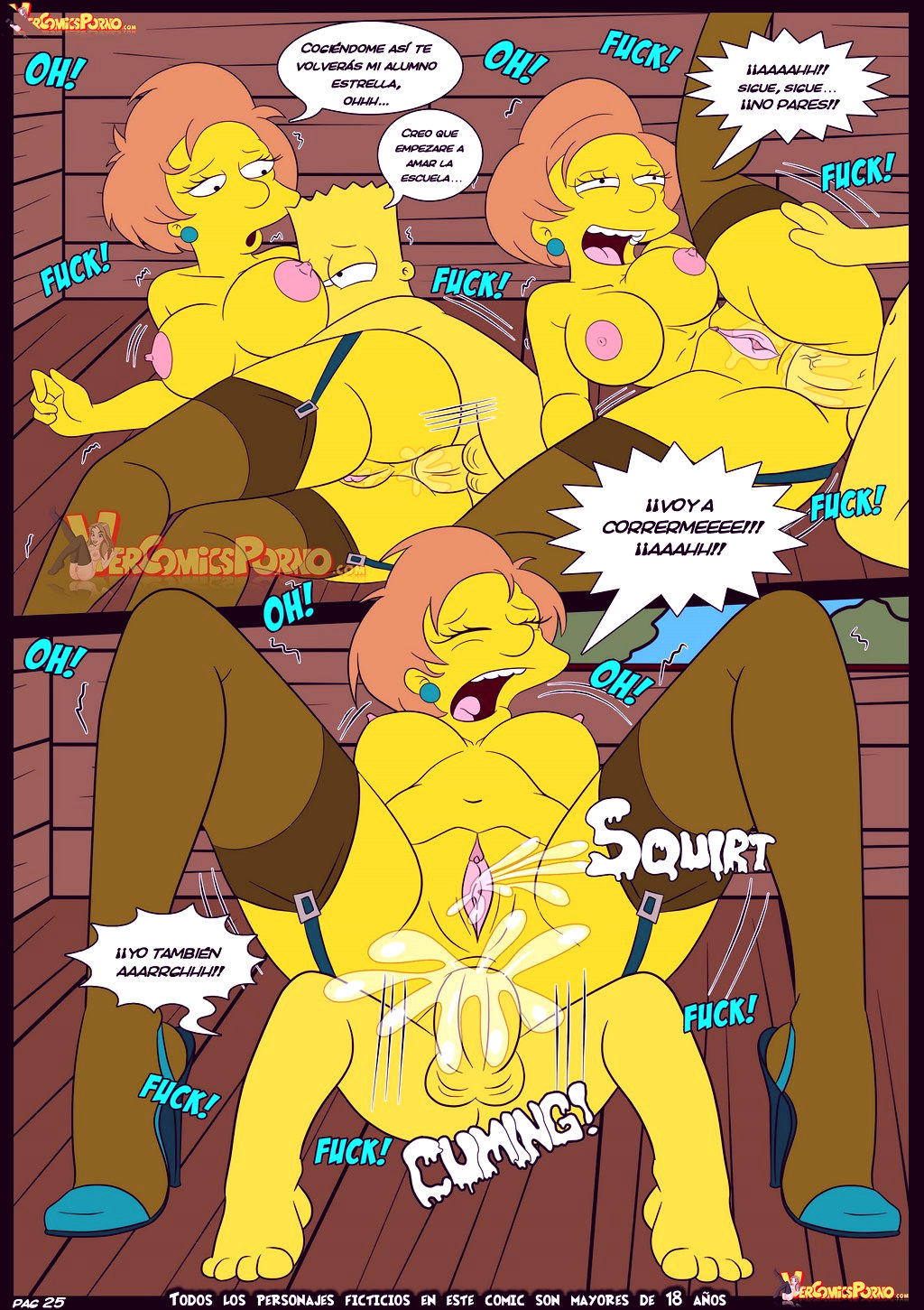 The simpsons old habits 5 porn comic picture 26
