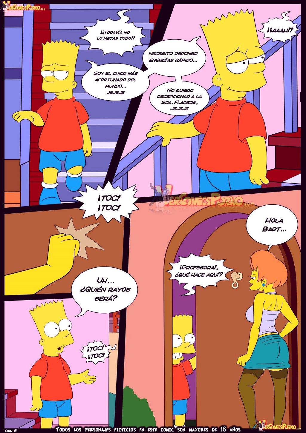 The simpsons old habits 5 porn comic picture 7