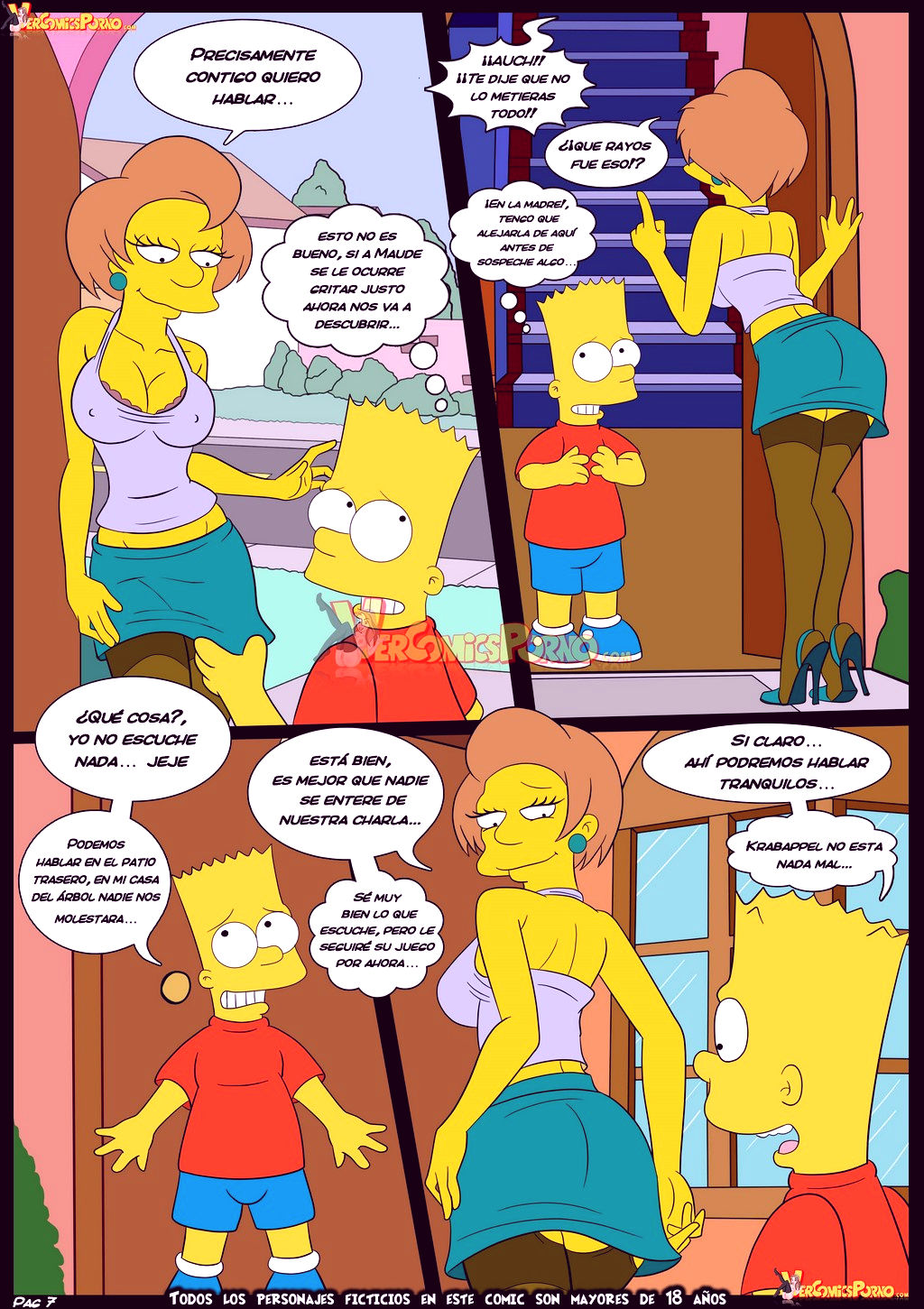 The simpsons old habits 5 porn comic picture 8
