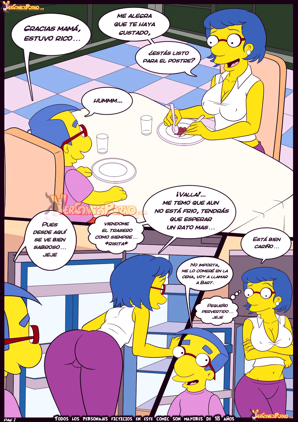 The simpsons old habits 6 porn comic picture 2