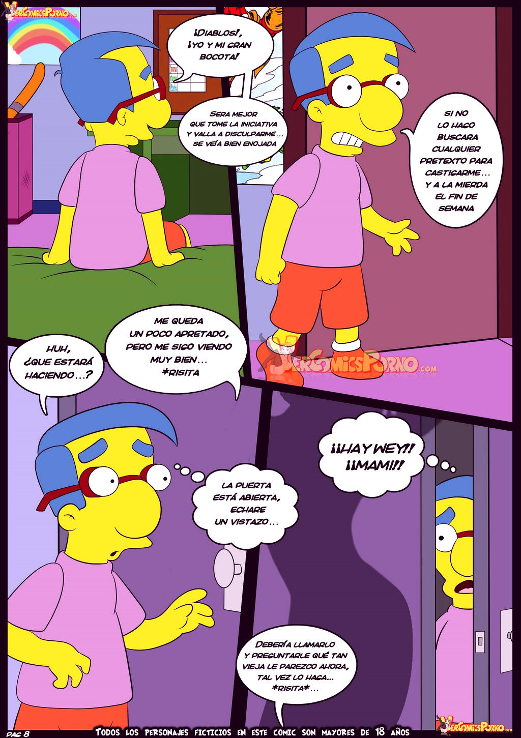 The simpsons old habits 6 porn comic picture 9