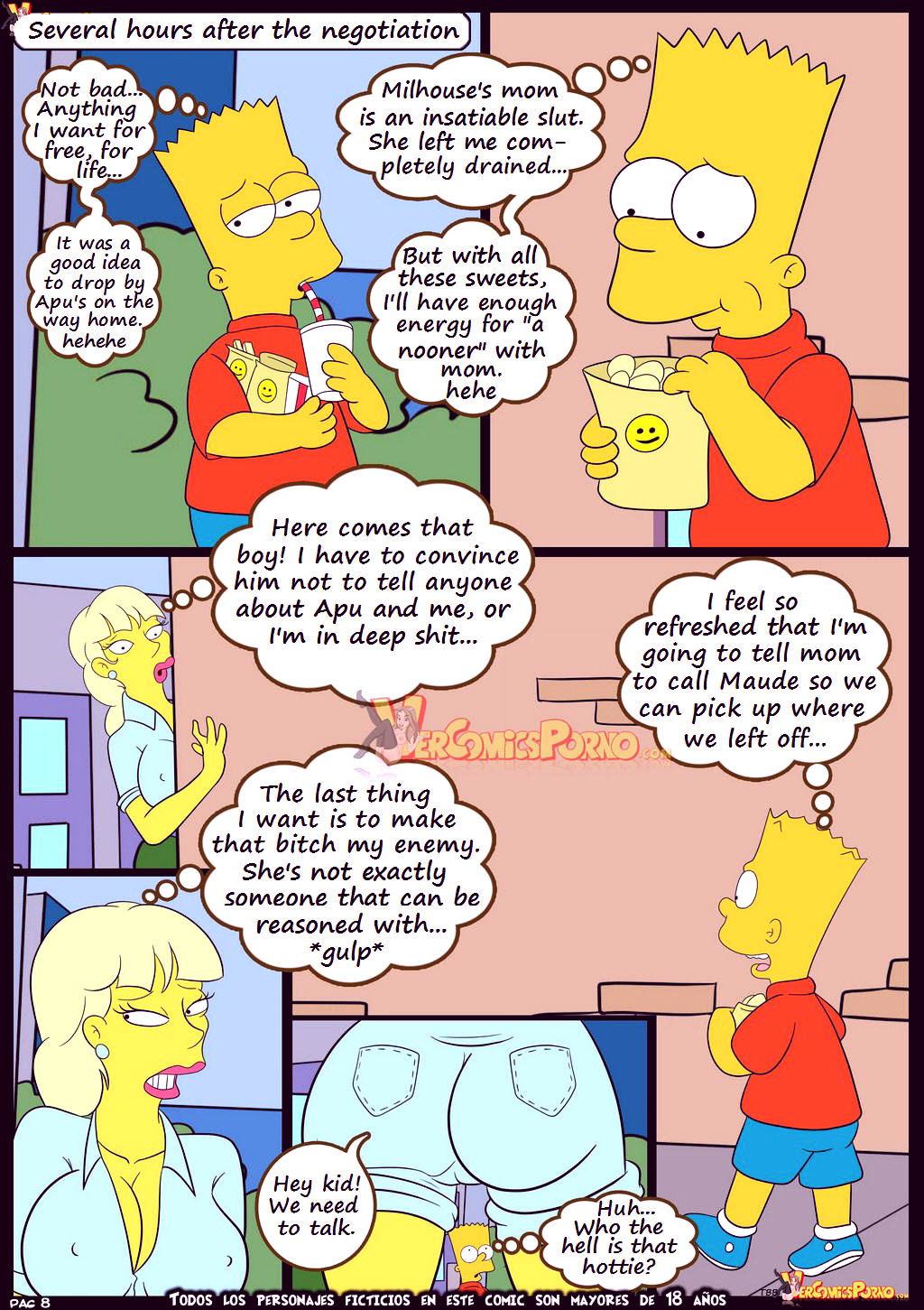 The simpsons old habits 7 porn comic picture 9