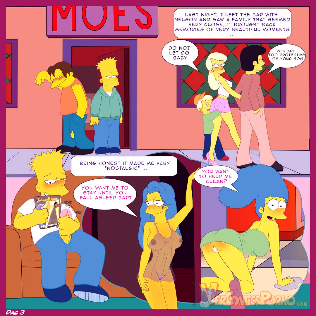 The simpsons old habits porn comic picture 4