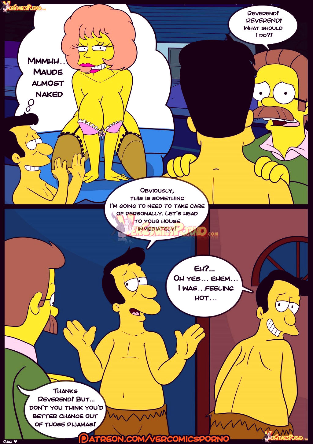 The simpsons old habits 8 porn comic picture 10