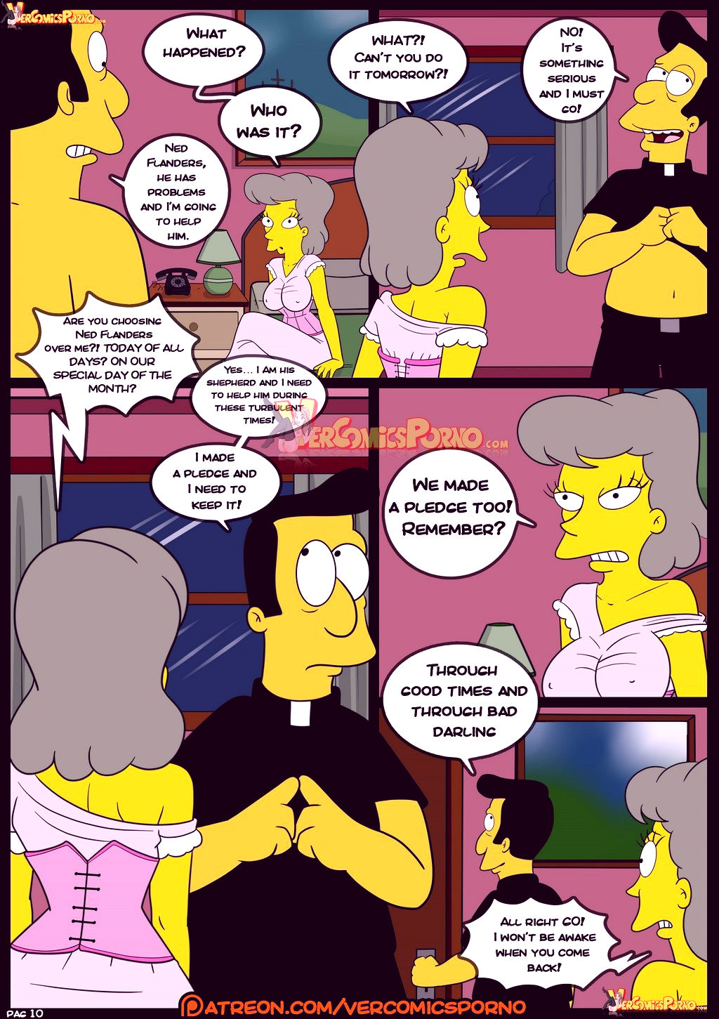 The simpsons old habits 8 porn comic picture 11