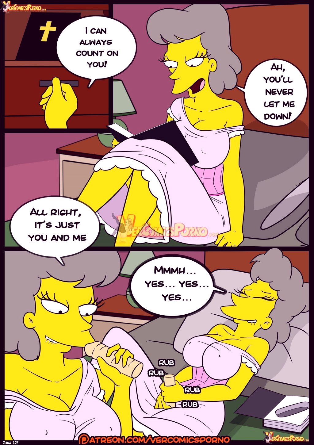 The simpsons old habits 8 porn comic picture 13