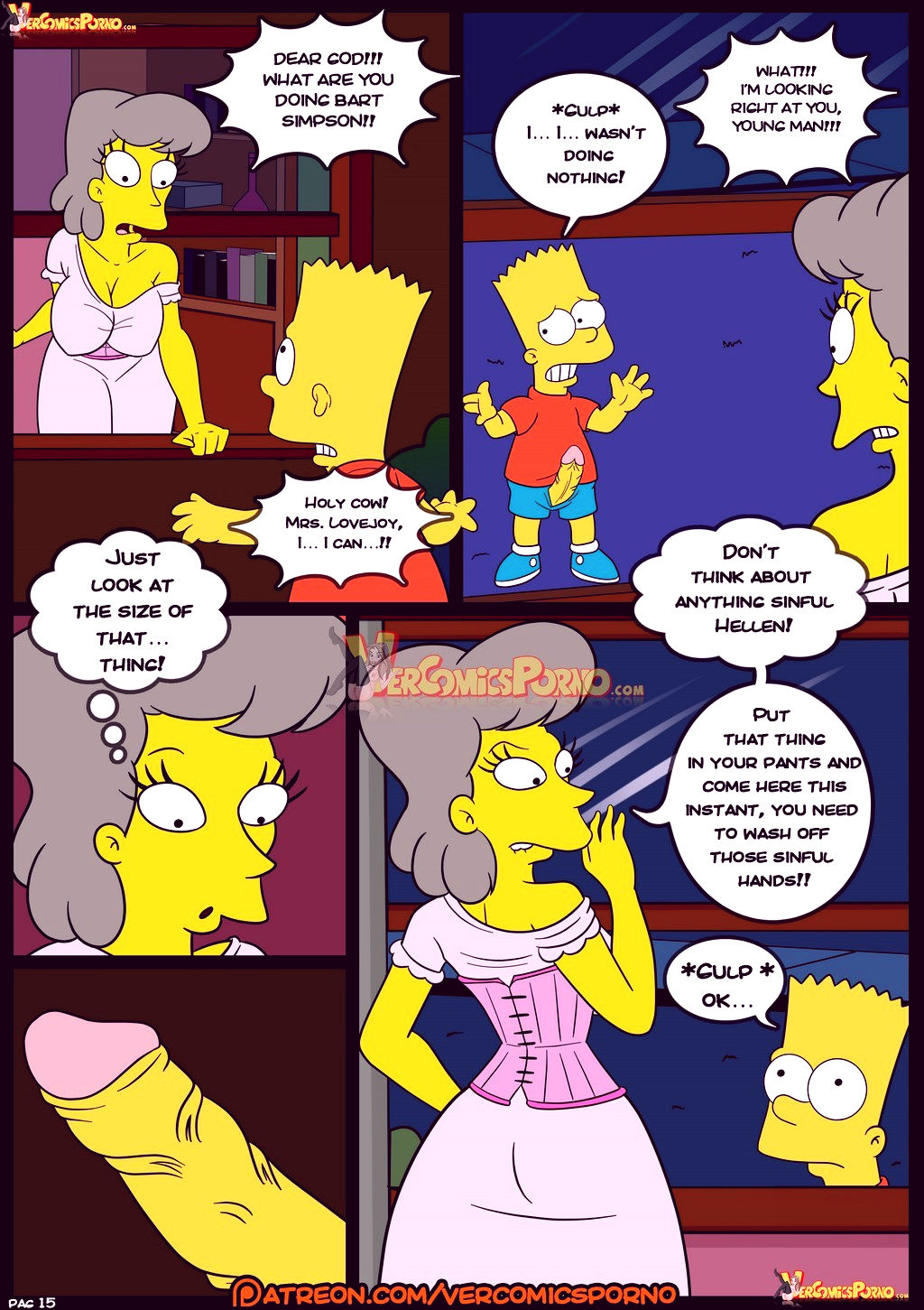 The simpsons old habits 8 porn comic picture 16
