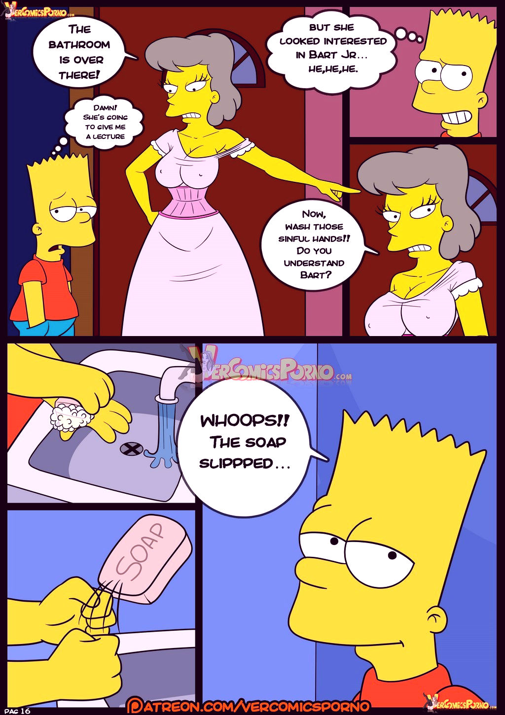 The simpsons old habits 8 porn comic picture 17