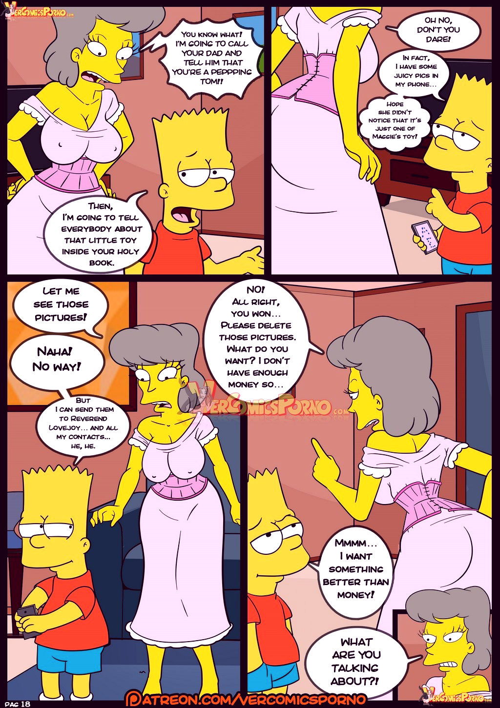 The simpsons old habits 8 porn comic picture 19