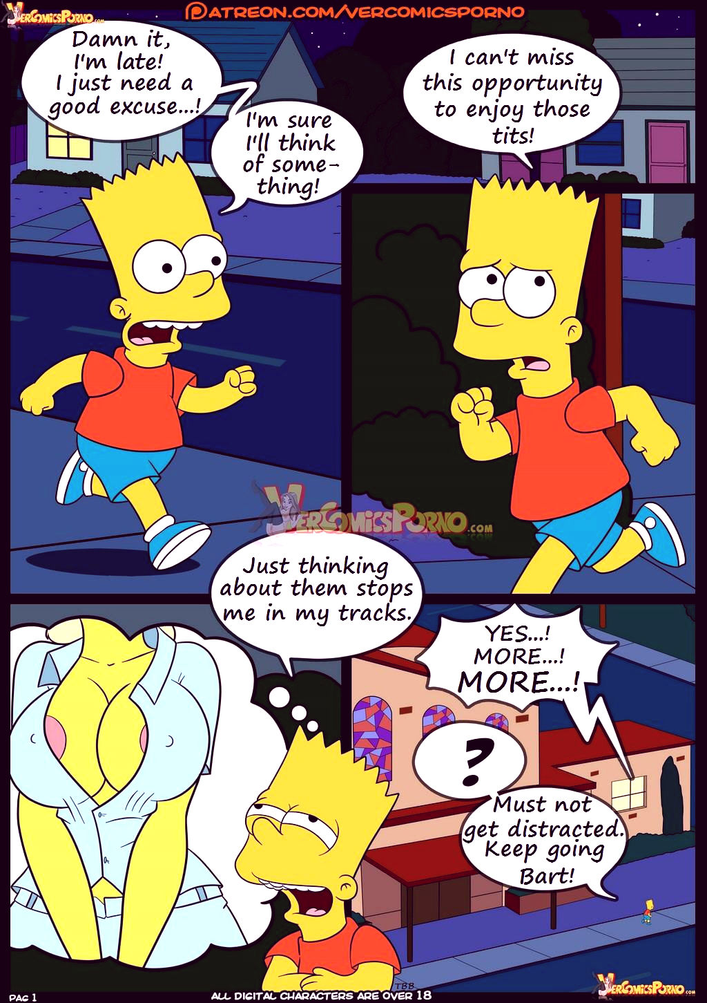 The simpsons old habits 8 porn comic picture 2