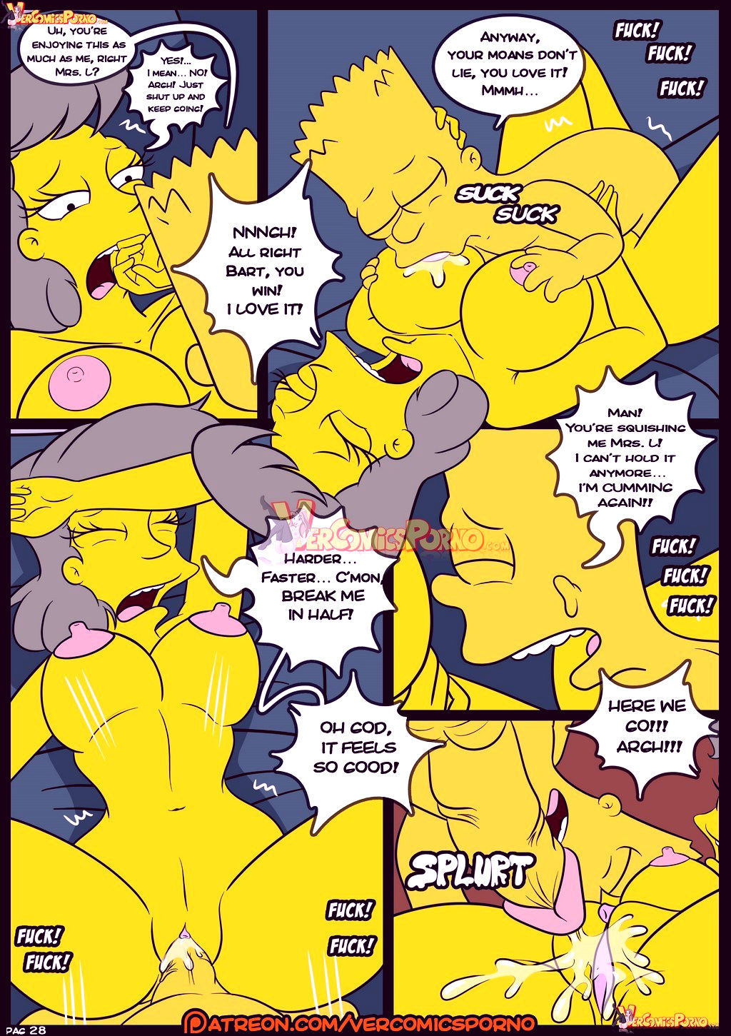 The simpsons old habits 8 porn comic picture 29