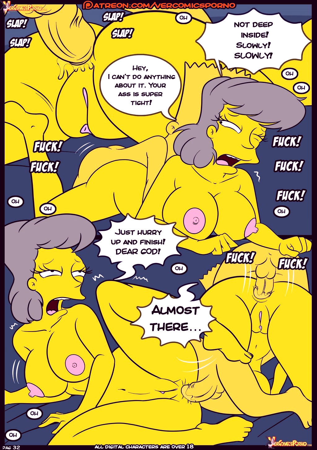 The simpsons old habits 8 porn comic picture 33