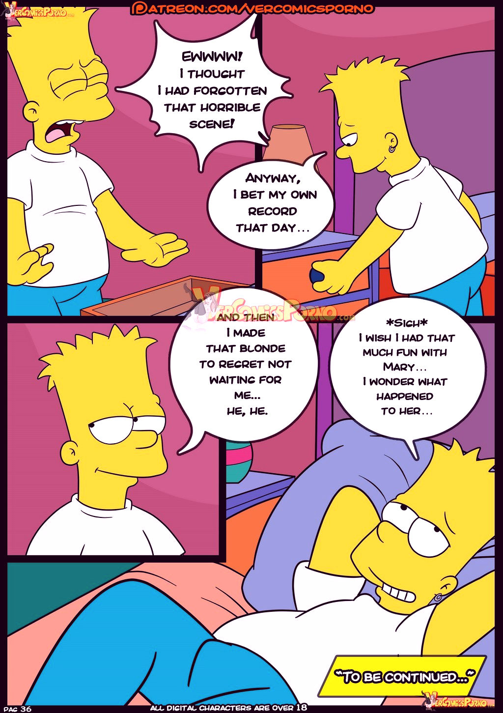 The simpsons old habits 8 porn comic picture 37