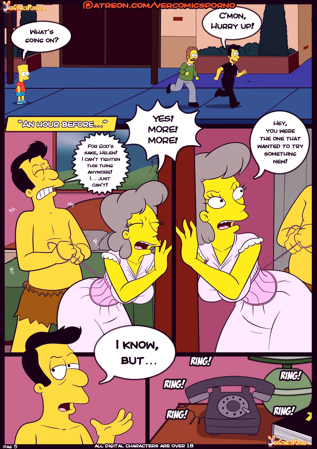 The simpsons old habits 8 porn comic picture 6