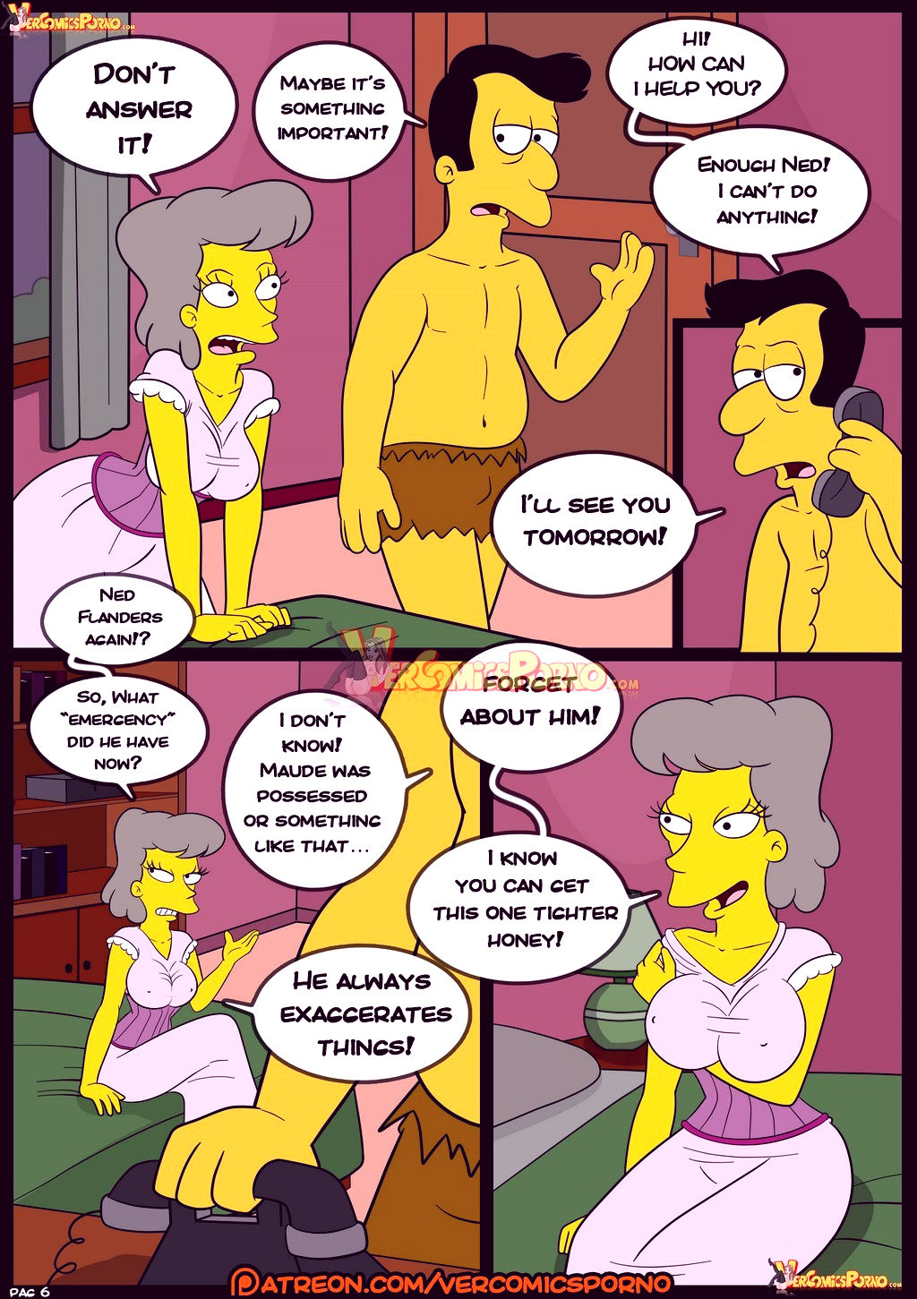The simpsons old habits 8 porn comic picture 7