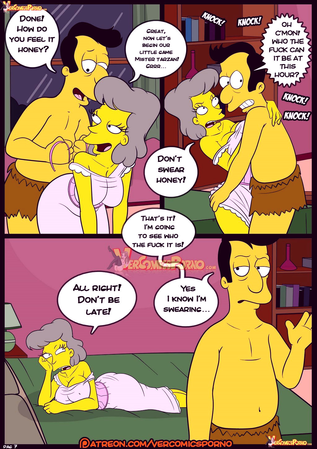 The simpsons old habits 8 porn comic picture 8