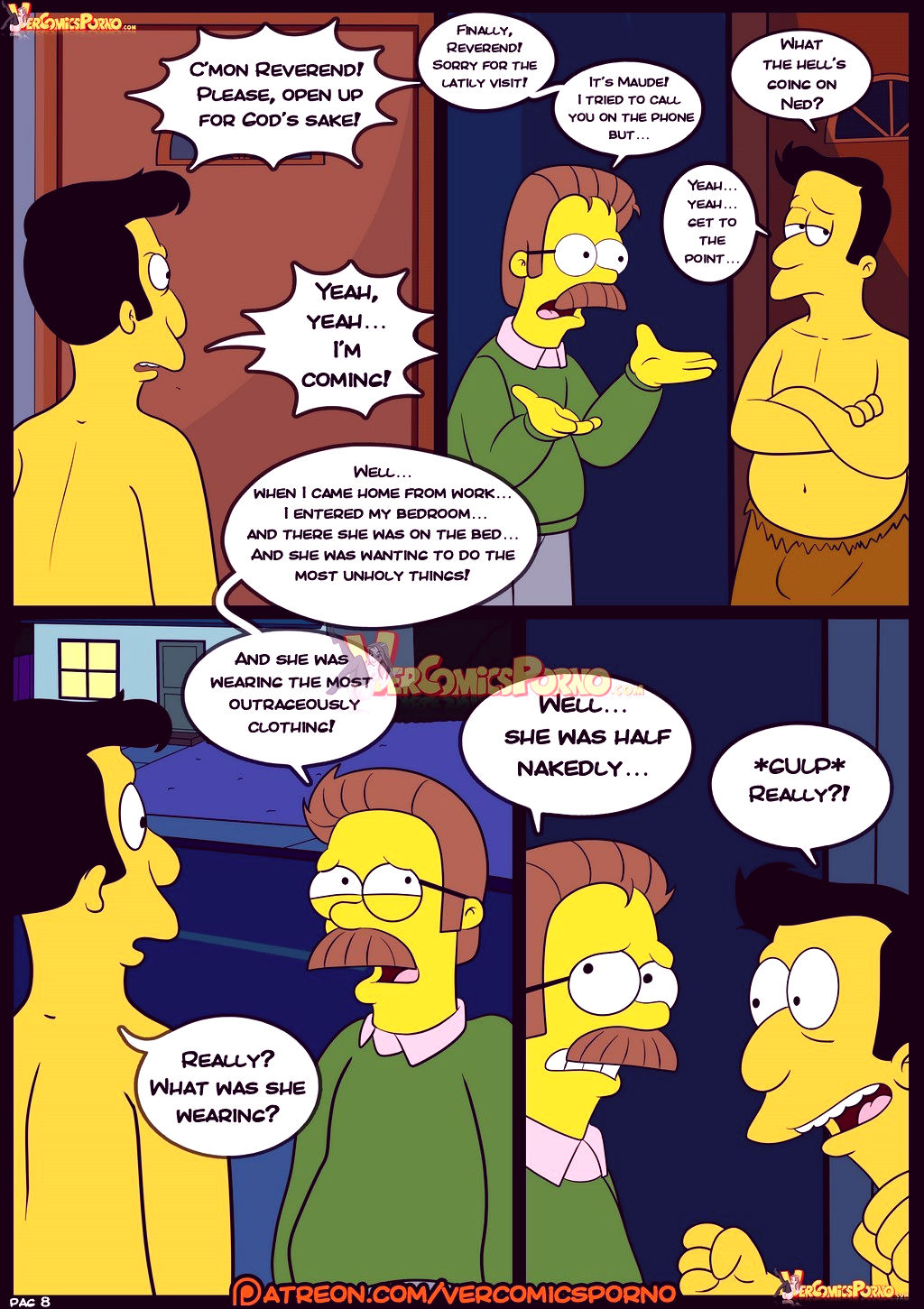 The simpsons old habits 8 porn comic picture 9