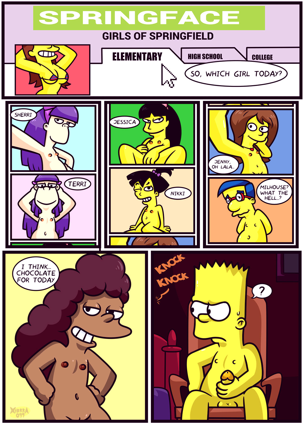 The not so treehouse of horror porn comic picture 4