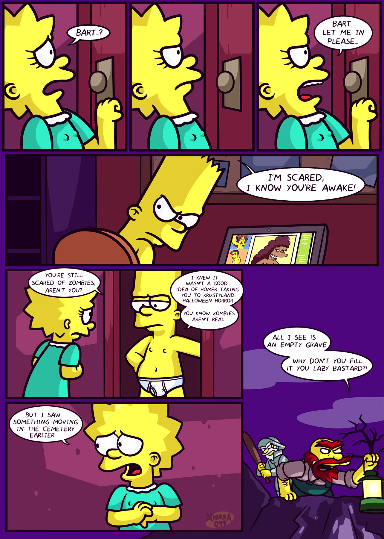 The not so treehouse of horror porn comic picture 5